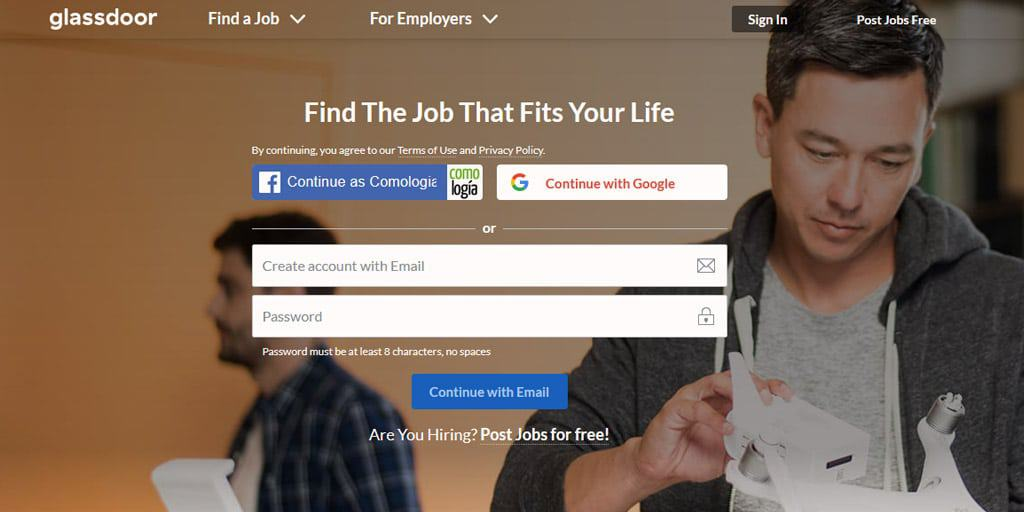 Glassdoor encontrar empleo estados unidos