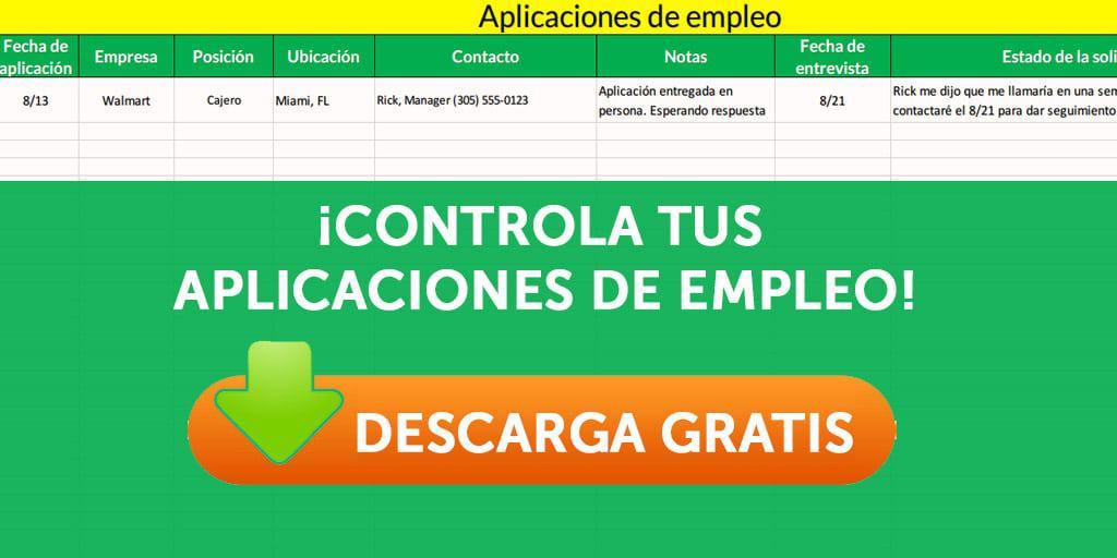 control de aplicaciones de empleo