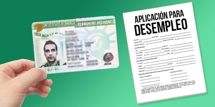 colectar desempleo residente green card