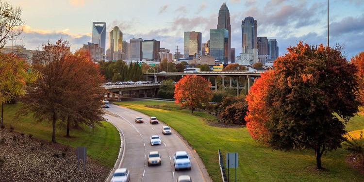 Trafico y transporte en Charlotte North Carolina