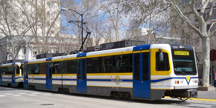 Trafico y transporte publico en Sacramento