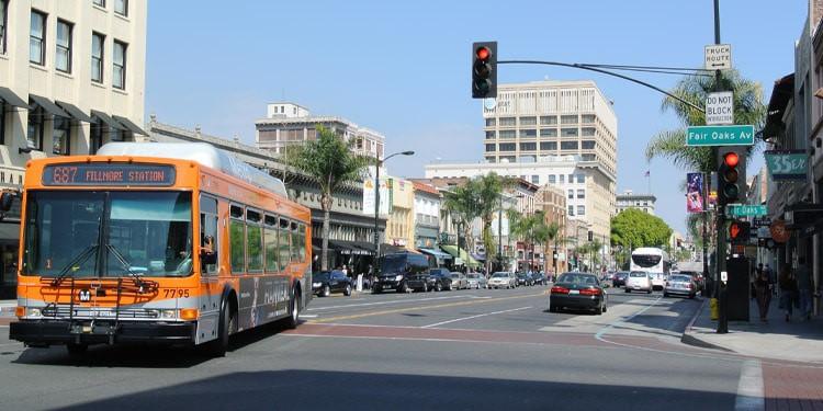 Trafico y transporte en Pasadena