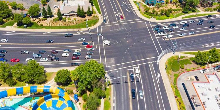 trafico transporte en Roseville california