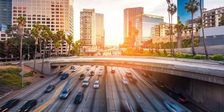 Trafico y transporte en Los Angeles