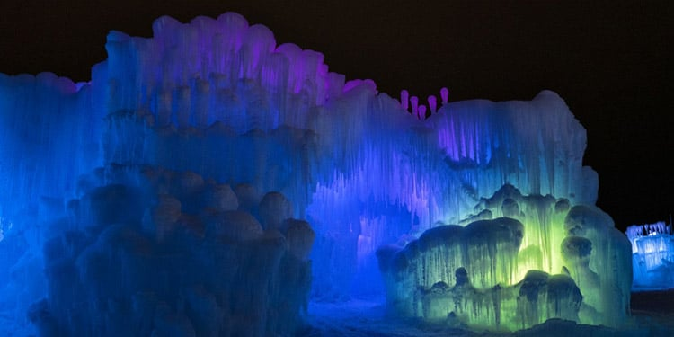 Castillos de Hielo Ice Castles que hacer en New Hampshire