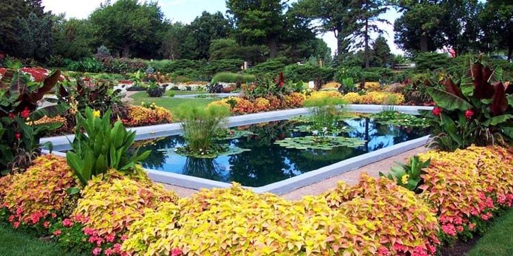 entretenimiento en Nebraska Jardines Sunken Gardens