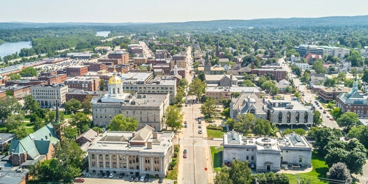mejores ciudades New Hampshire concord