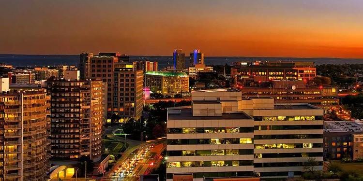mejores zonas para vivir Downtown Stamford Connecticut